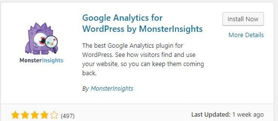 Install Google Analytics wordpress websit